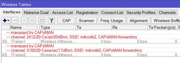 Автоматическая настройка и запуск интерфейсов точки доступа в MikroTik CAPsMAN