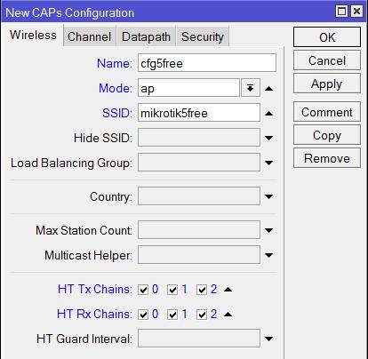Добавление конфигурации гостевой сети для частоты 5ГГц в MikroTik CapsMan